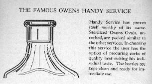 Illustration of cork type finish from a 1928 Owens Bottle Company prescription bottle catalog.