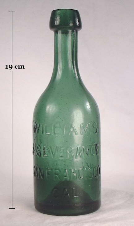 Hyperlink to an image of an 1850's mineral water bottle.