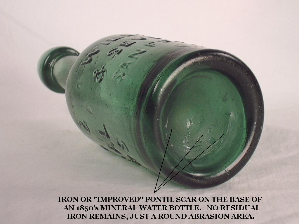 Hyperlink to an image of an early post mold mineral water bottle.