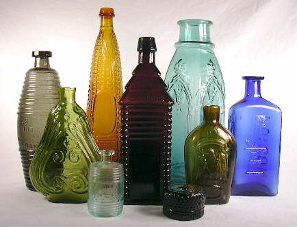 Bottle group showing a variety of bottle shapes; click to enlarge.