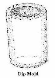 Illustration of a dip mold; click to enlarge.