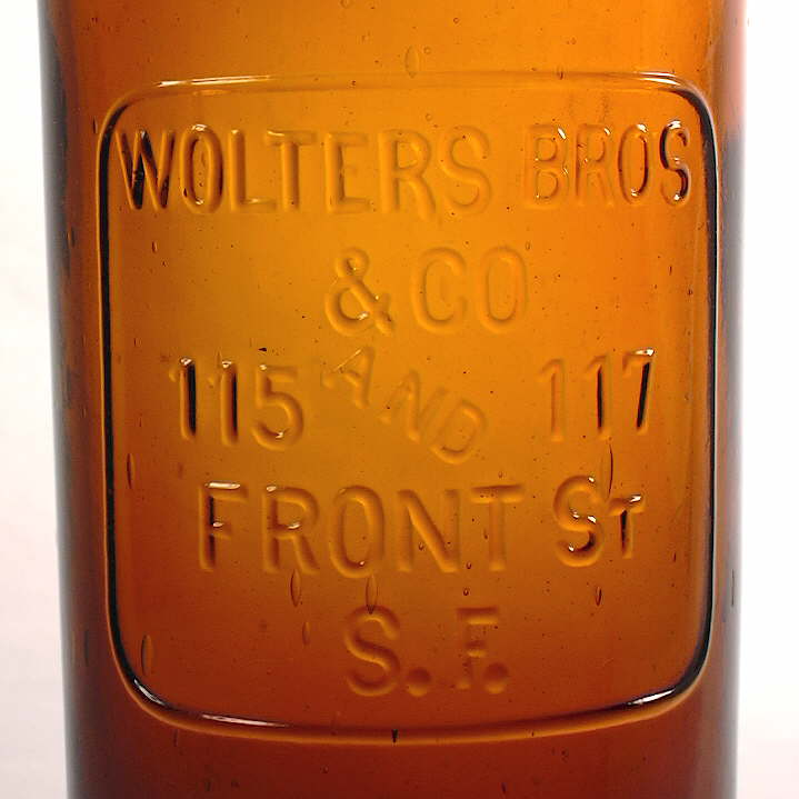 Hyperlink to a close-up picture of the Wolters Bros. embossing.