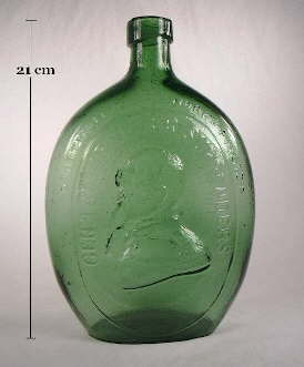 Quart Washington-Taylor flask in medium yellow green; click to enlarge.