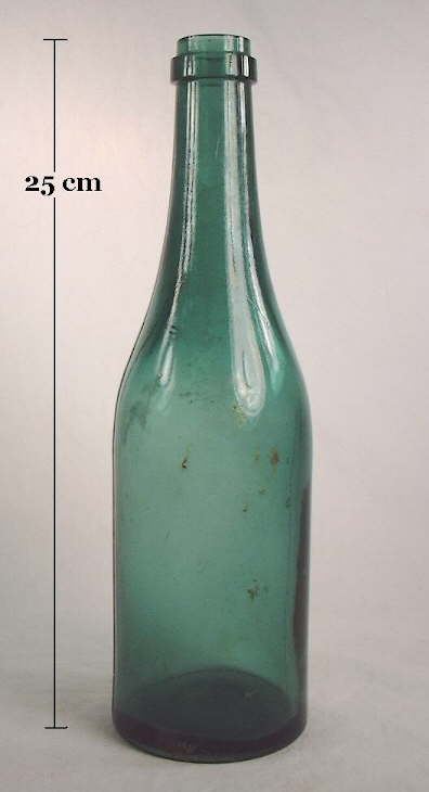 Hyperlink to an image of a late 19th century medicinal tonic bottle with a champagne finish.