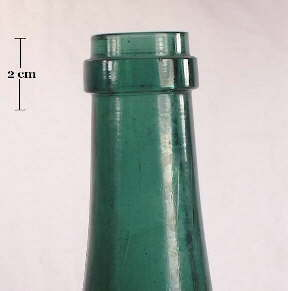 Image of a champagne finish on a late 19th century medicinal tonic bottle; click to enlarge.