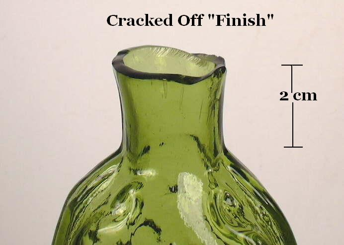 Hyperlink to an image of a cracked off finish on a mid 19th century flask.