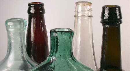 Picture of 5 different types of bottle finishes.