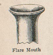 Image of a flare mouth illustration from an early 20th century glass makers catalog; click to enlarge.