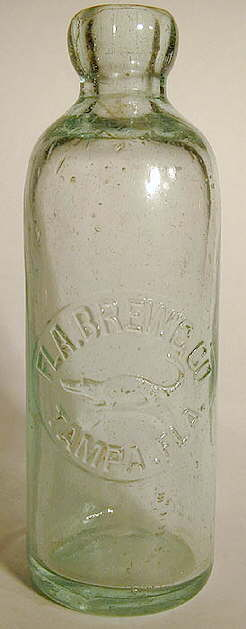 Hyperlink to a picture of a Florida Brewing Company Hutchinson bottle.
