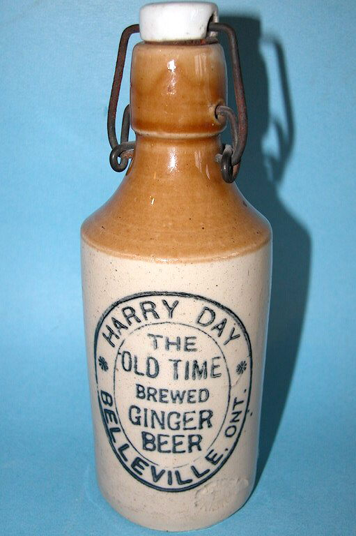 Hyperlink to an image of a crockery ginger beer bottle with a lightning closure.