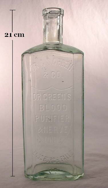 Hyperlink to an image of a Dr. Greens Blood Purifier and Nerver Tonic.