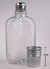Imperial double screw cap flask with big cap off; click to enlarge.