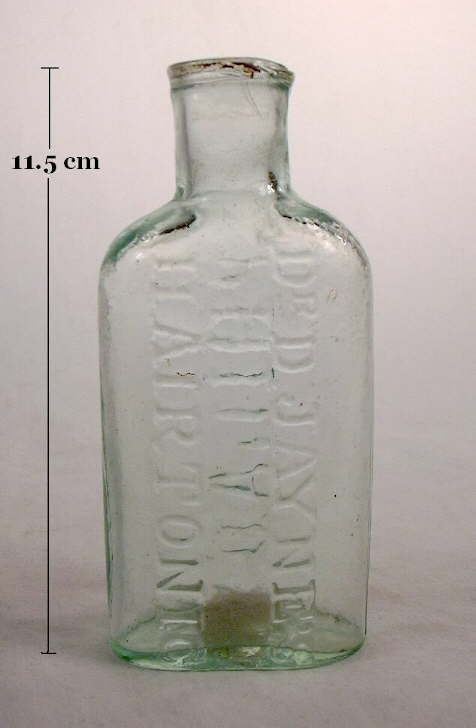 Hyperlink to an image of a mid 19th century hair tonic bottle with an inwardly rolled finish.