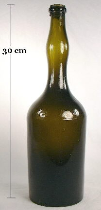 Ladies leg bitters bottle from the 1850s; click to enlarge.