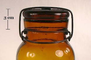 Lightning closure with lid on a Lightning fruit jar; click to enlarge.