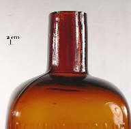 Image of a straight finish on an early 20th century medicinal bottle; click to enlarge.