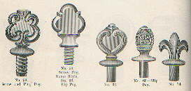 Illustration of peg stoppers from 1905-1910; click to enlarge.