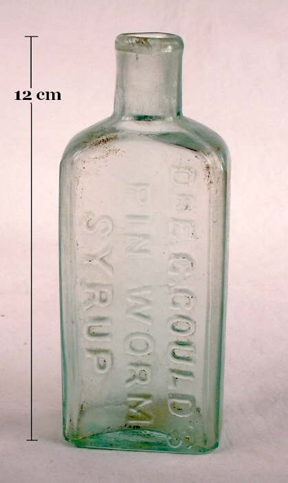 Hyperlink to an image of the Gould's Pin Worm Syrup.