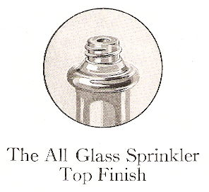 Sprinkler top finish from 1926 catalog; click to enlarge.