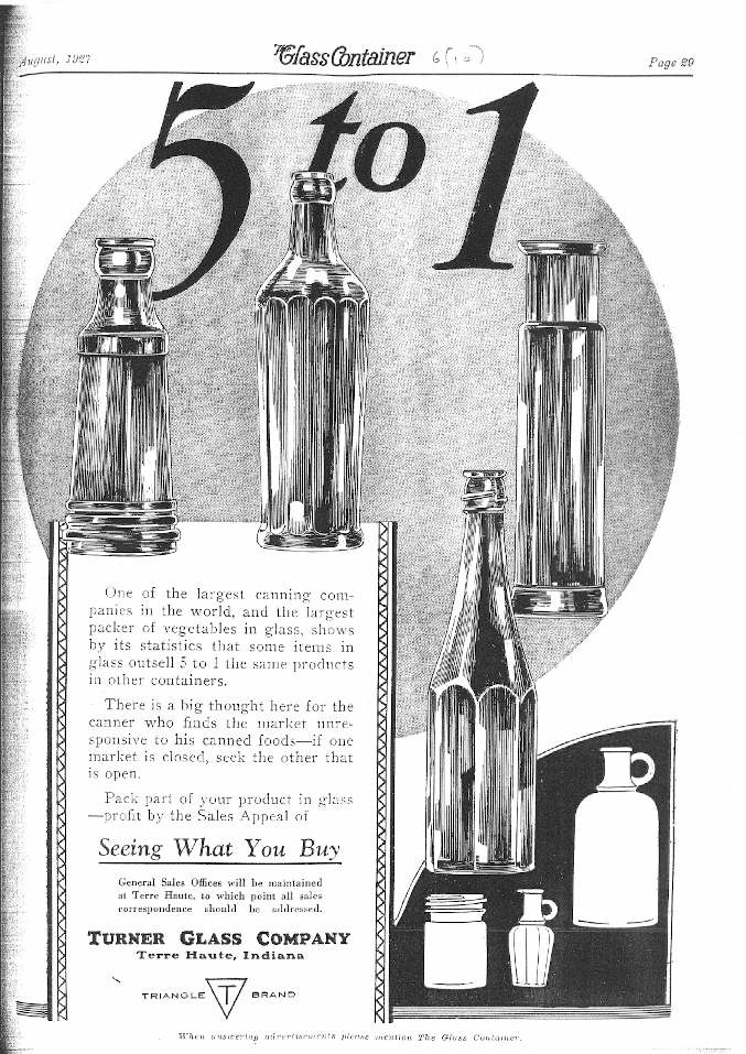 Hyperlink to a 1927 Turner Glass Co. advertisement.