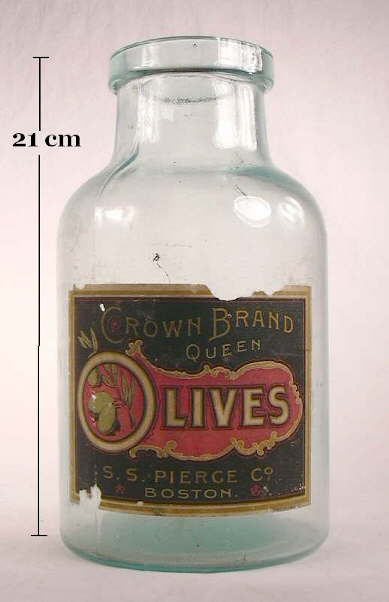 Hyperlink to an image of an olive bottle or jar with a wide patent finish.