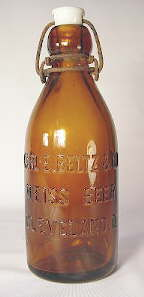 Late 19th century weiss beer bottle from Cleveland; click to enlarge.