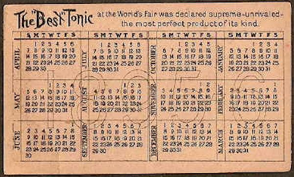 Hyperlink to the calendar side of this trade card.