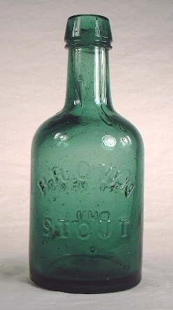 1860s ale bottle; click to enlarge.