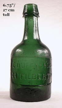 Mid 1850s porter bottle; click to enlarge.