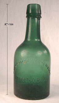 Mid 19th century ale or mineral water bottle; click to enlarge.