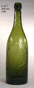 1890 to 1910 German made California beer bottle; click to enlarge.