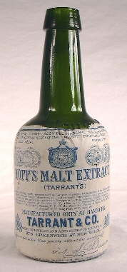 Early 20th century Hoff's Malt Extract bottle with label.