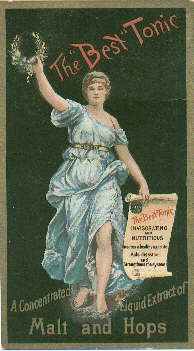 "Late 19th century ""beer tonic"" trade card; click to enlarge."