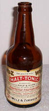 Malt Tonic bottle from 1910-1920 era; click to enlarge.