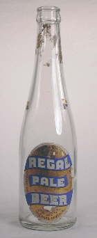 Champagne style beer bottle from 1939; click to enlarge.