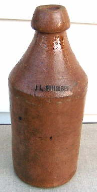 American made stoneware ale or soda bottle; click to enlarge.