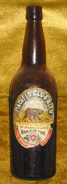 "Ca. 1906 to 1909 ""quart"" beer bottle; click to enlarge."