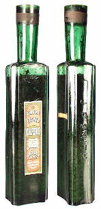 Late 19th century capers bottle; click to enlarge.