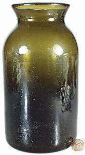 Early 19th century food bottle or jar; click to enlarge.