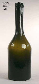 Mid-19th century sauce bottle; click to enlarge.