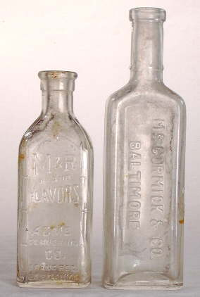 Machine-made extract bottles; click to enlarge.