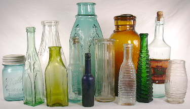 Group of food bottles; click to enlarge.