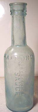 Halford Leicestershire Sauce bottle from the 1870s; click to enlarge.