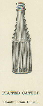 Fluted catsup from the Obear-Nester Glass Co. 1922 catalog; click to enlarge.