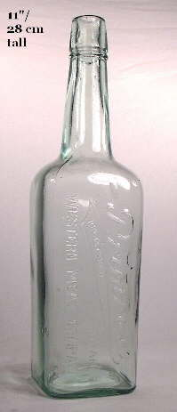 Early 20th century salad oil bottle; click to enlarge.