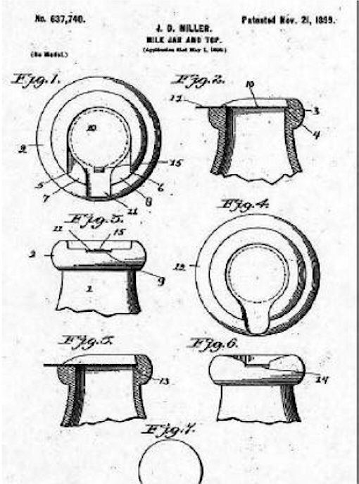 Hyperlink to an image of the 1899 Miller patent for a slotted finish and closure.