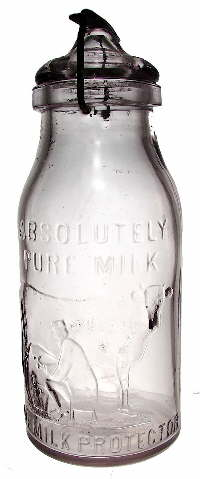 "Thatcher ""Milk Protector"" bottle; click to enlarge."