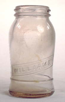 Williams mustard bottle from the 1920s; click to enlarge.