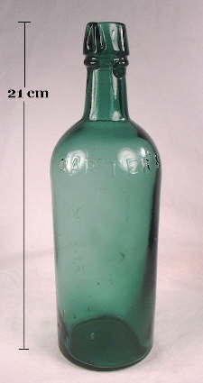 Bulk or master ink bottle from the 1880s; click to enlarge.