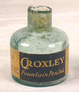 Early 20th century English ink bottle; click to enlarge.